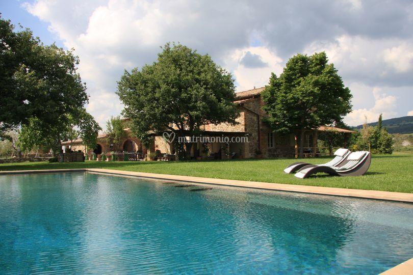 La piscina a sfioro