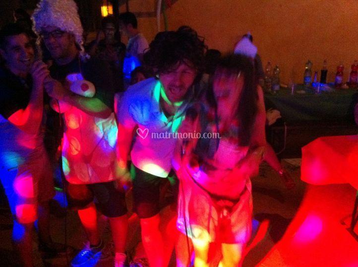 Balli e luci festa