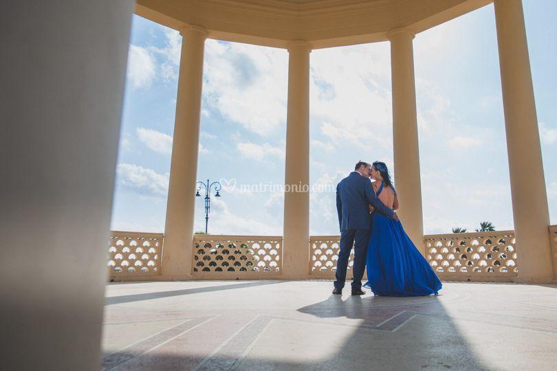 Foto di coppia al gazebo Livor