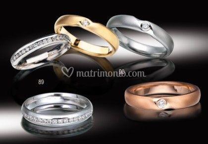 Fedi oro e diamanti Anteo