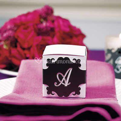 Mini box confetti con monogramma personalizzato