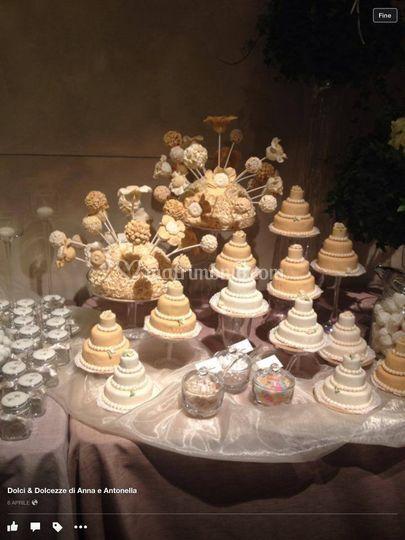 Confettata con mini cake