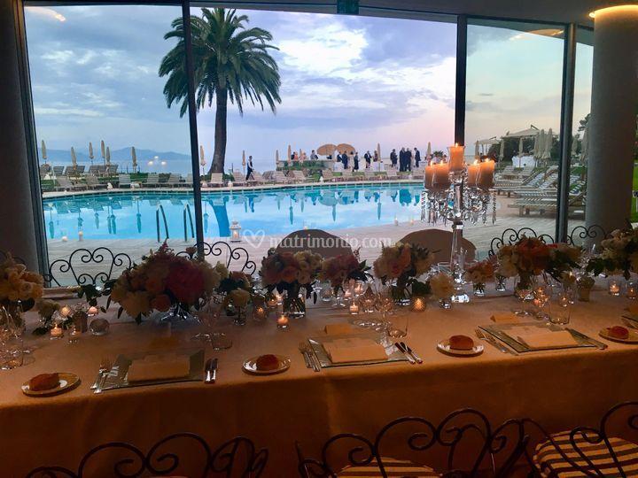 Vista dal ristorante piscina