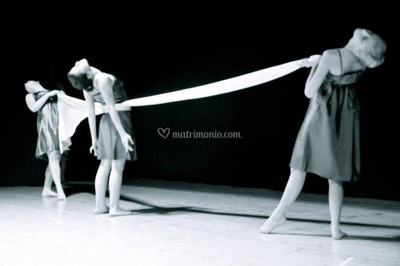 Coreografia con teli