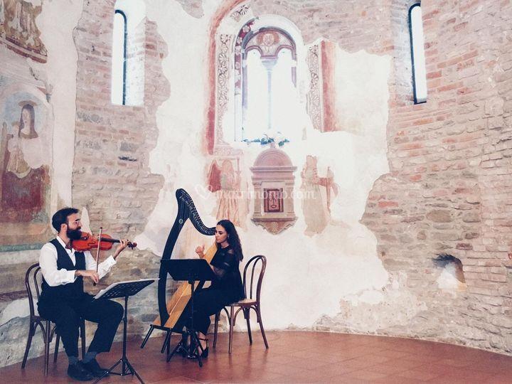 Violino ed arpa in Pieve