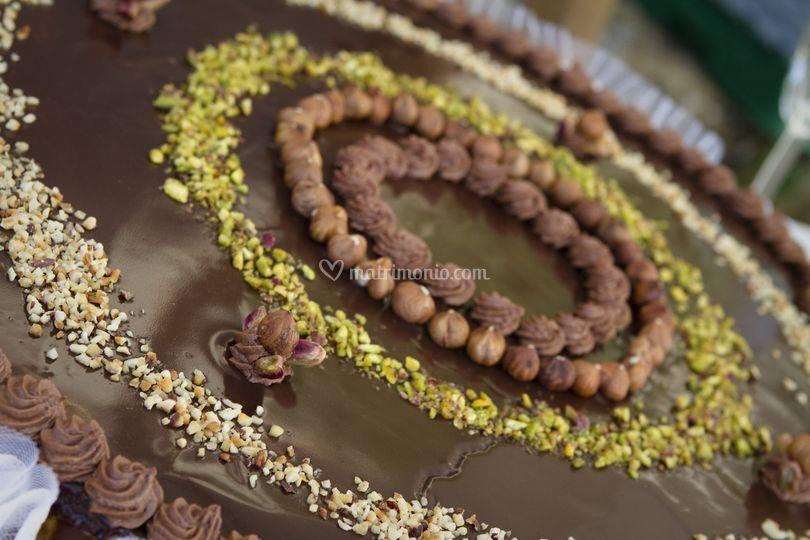 Torta nuziale cioccolato