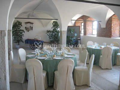Salone preparato per matrimonio