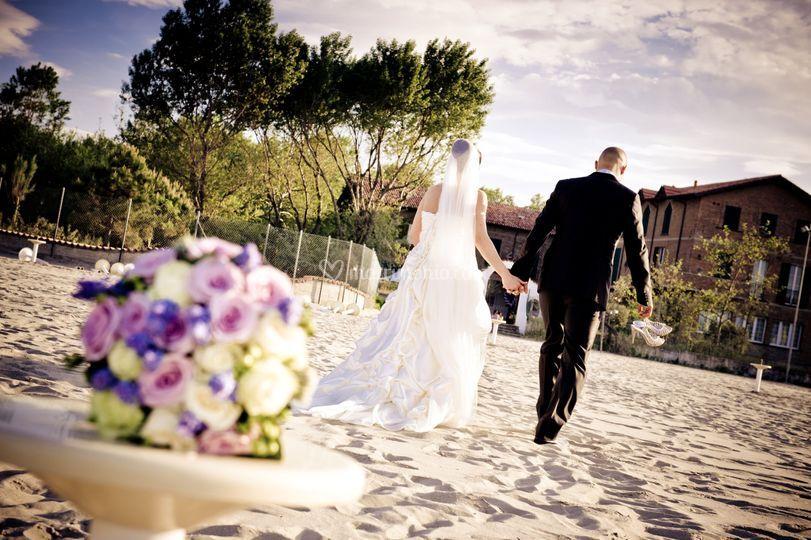 Sposi sulla sabbia