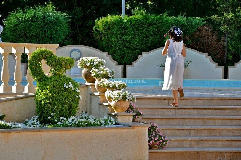 La scalinata della piscina