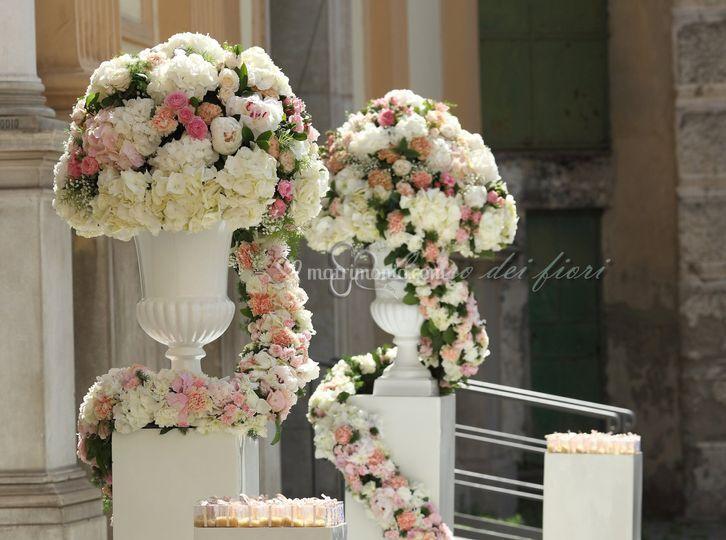 Tripudio di fiori rosa