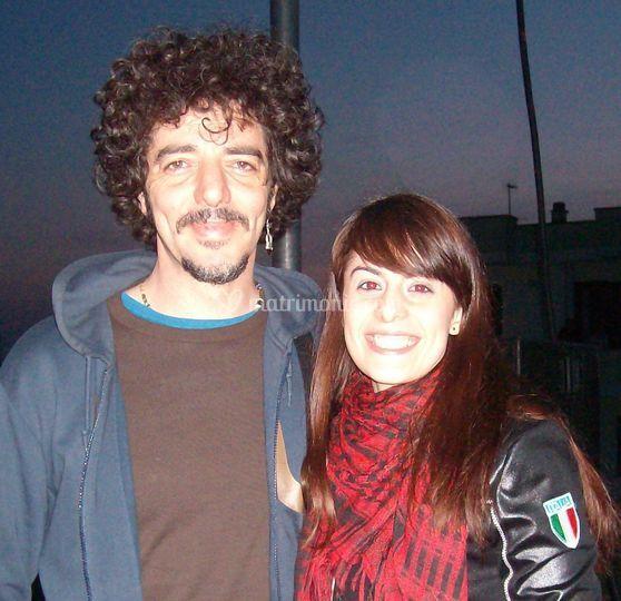Sara con Max Gazzè
