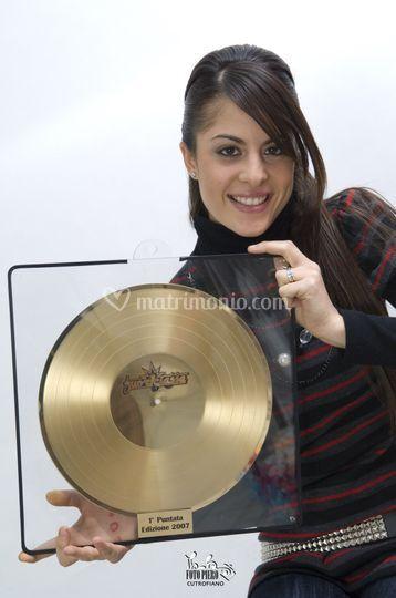 Sara vince il Disco D'Oro!
