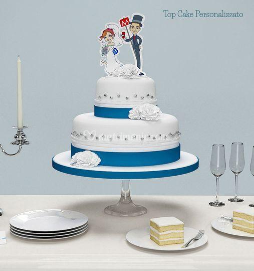 Top Cake con caricatura