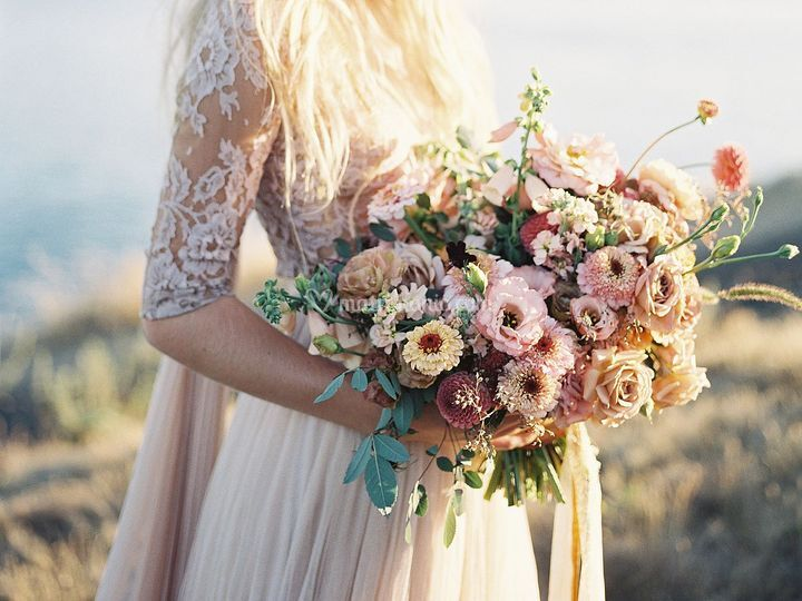 Bouquet country chic+ abito