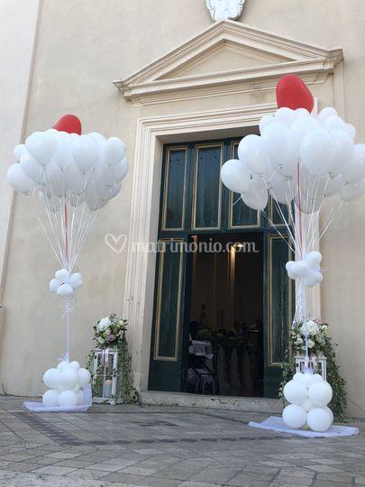 Ciuffi di palloncini rilascio