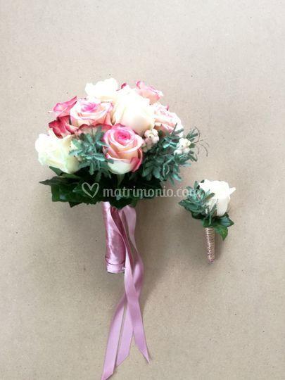 Bouquet con bottoniera
