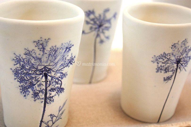 Bicchieri con stampa fiori