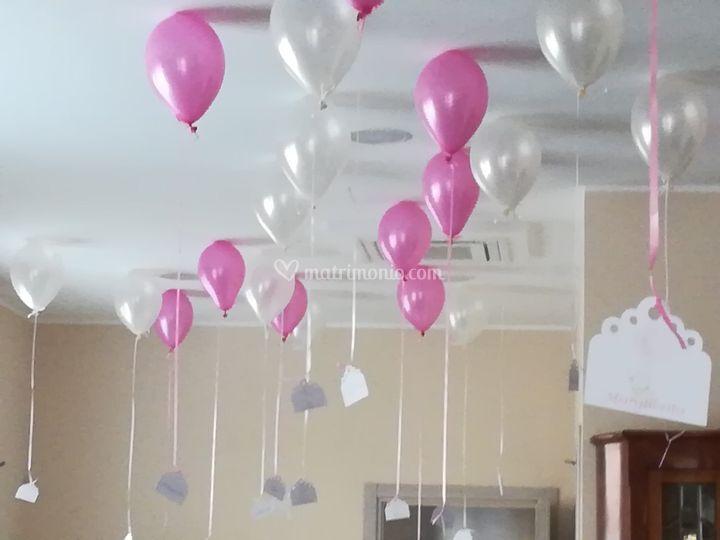 Palloni con elio a soffitto