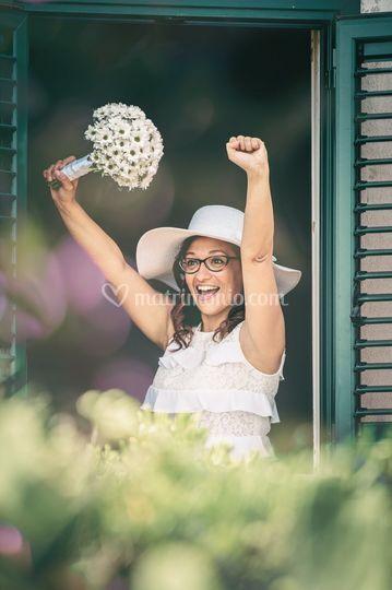 Favignana, la gioia della sposa
