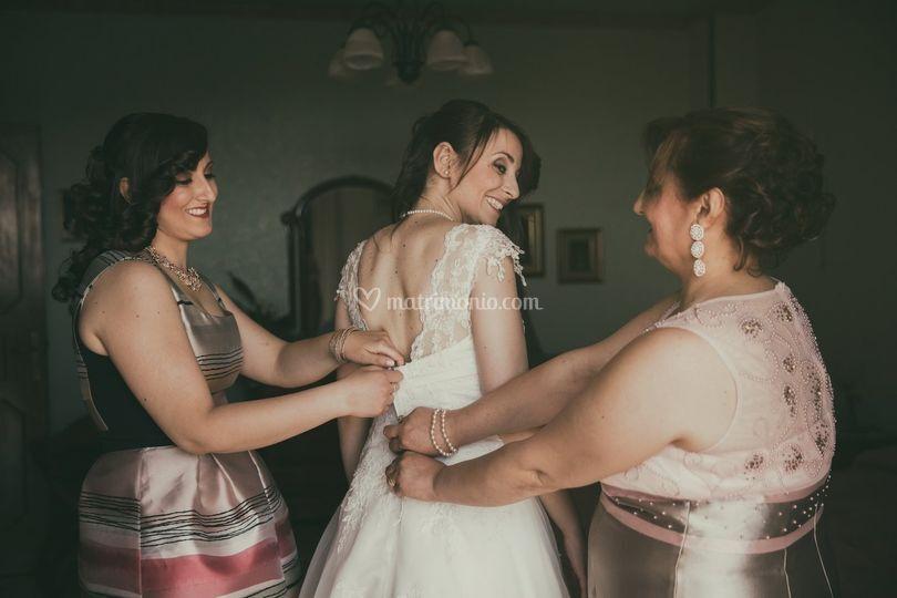 La vestizione della sposa