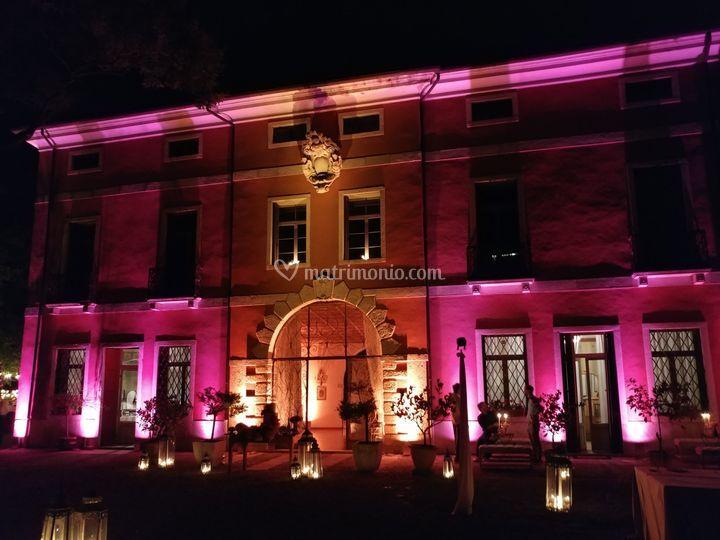 Villa in notturna