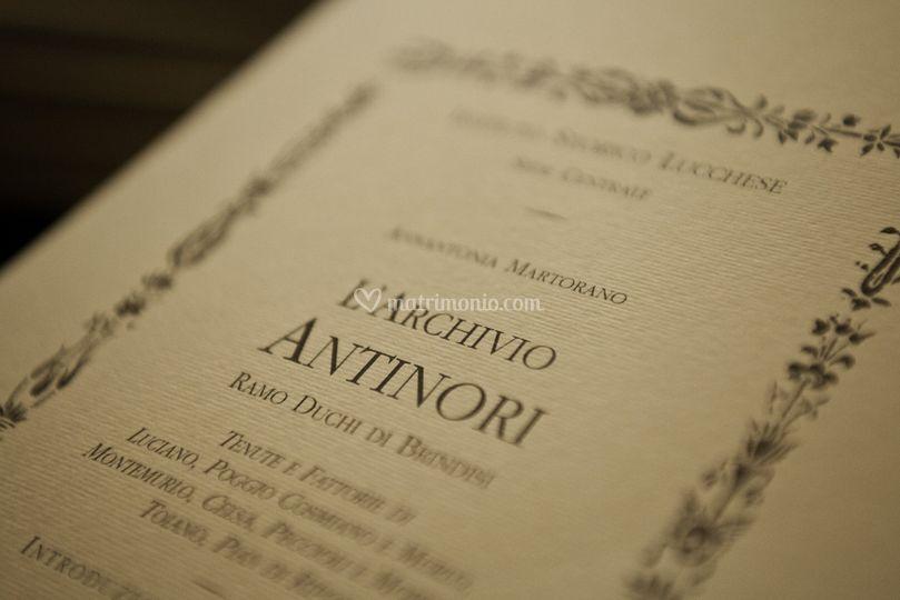 L'archivio Antinori