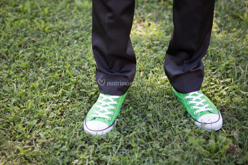 Converse verdi tema wedding