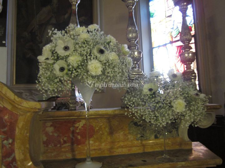 Allestimento altare invernale