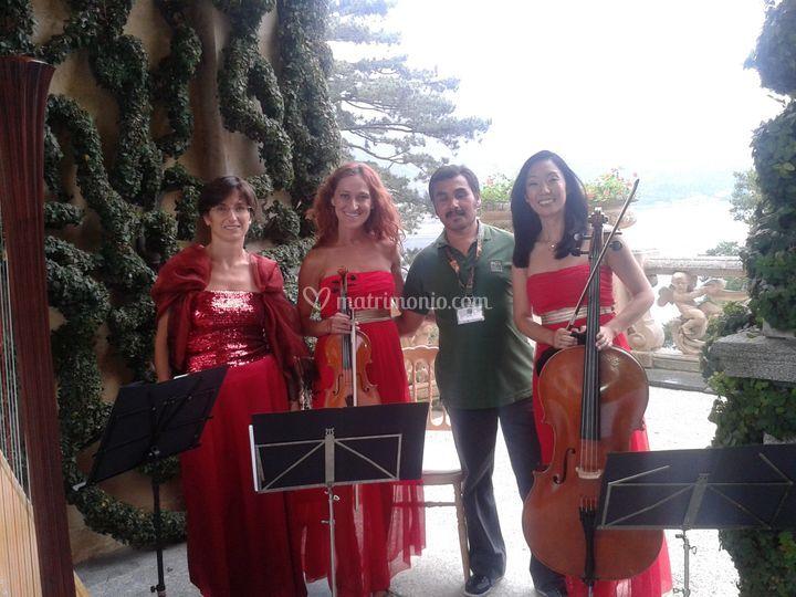 Trio arpa/violino/violoncello