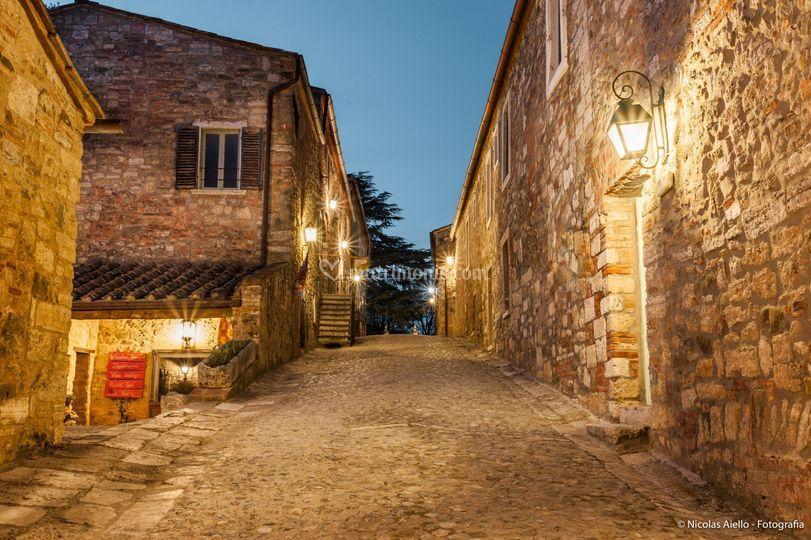 Borgo at night