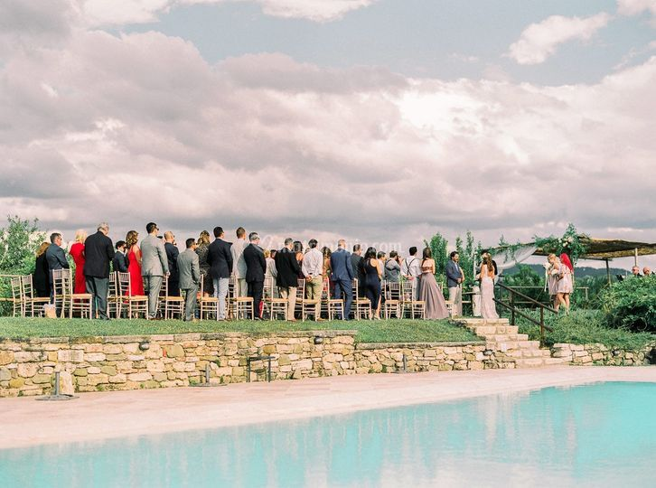 Ceremony by the pool
