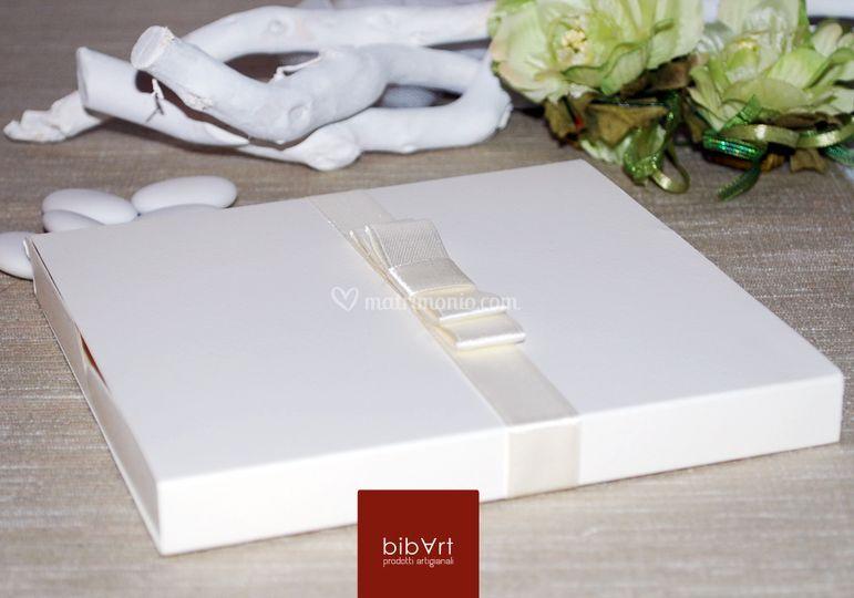 Wedding box base avorio