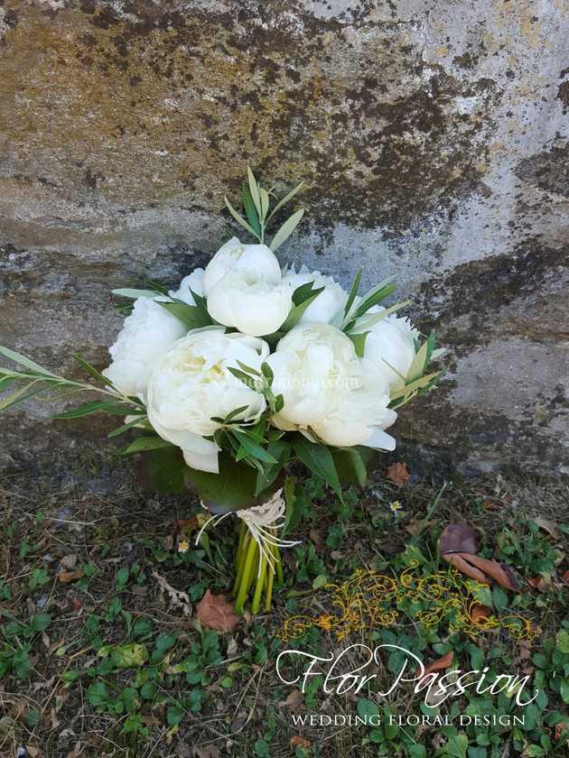 Bouquet Sposa Ulivo.Bouquet Sposa Peonie E Ulivo Di Florpassion Foto 164