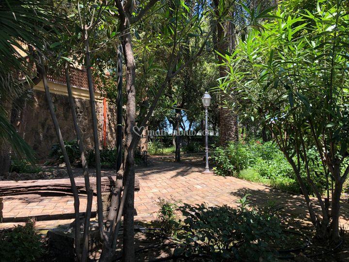 Parte del grande giardino