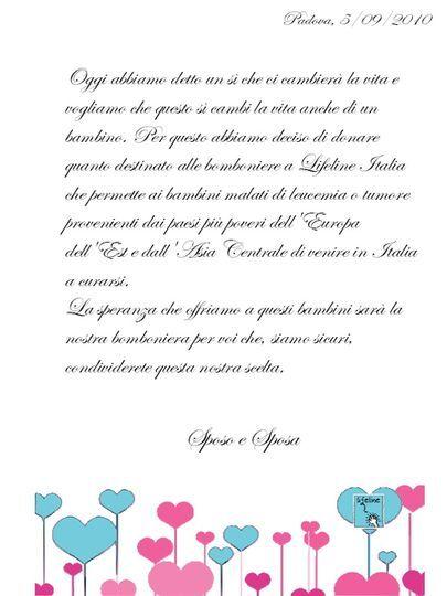 Pergamena Matrimonio Simbolico : Bomboniera con pergamena di lifeline italia onlus foto