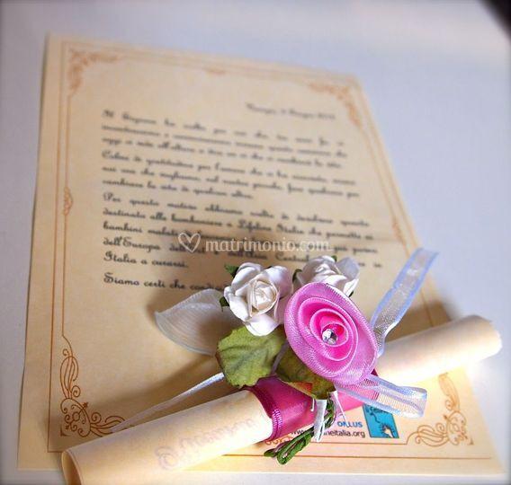 Pergamena Matrimonio Simbolico : Lifeline italia onlus