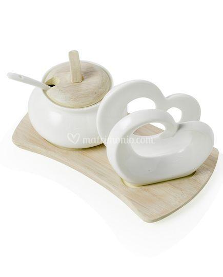 Brandani porcellana e bamboo