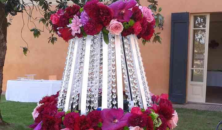 Lampadario floreale