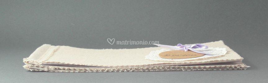 Fabric Wedding Booklet