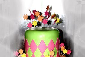 Colors wedding cake