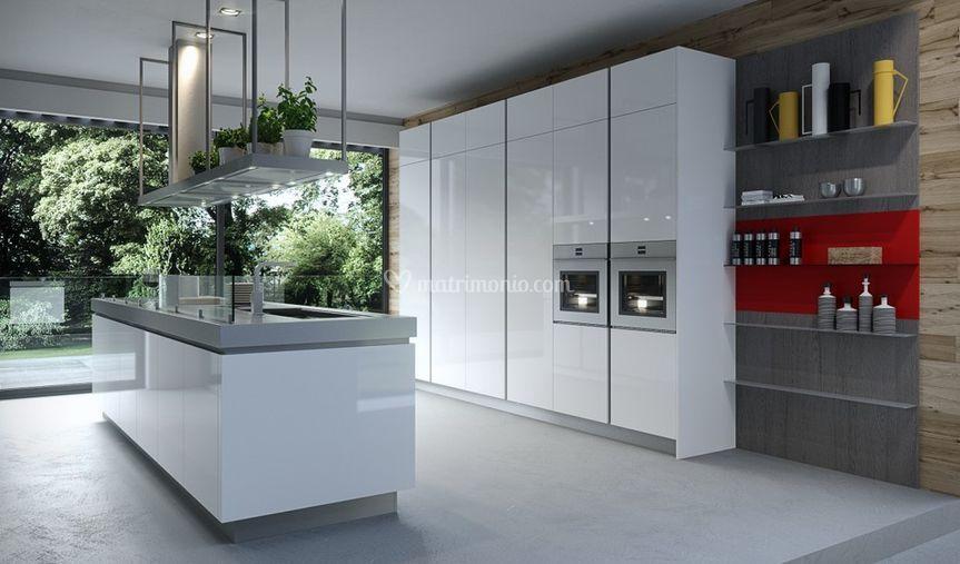 Cucina bianca di design