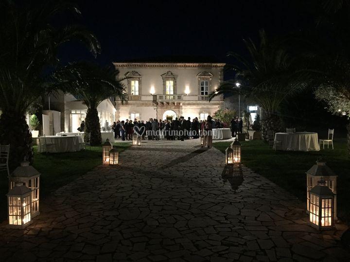 La villa di sera