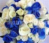 Bouquet rose bianch e blu