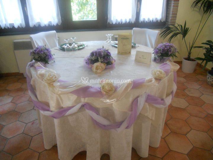 La casa del Ghiro - tavolo sposi