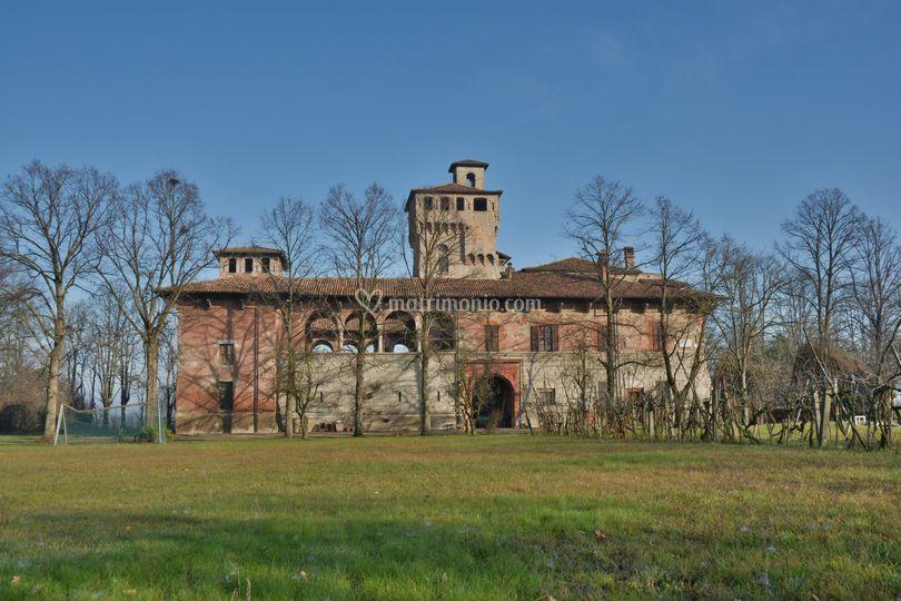 Il castello da dietro