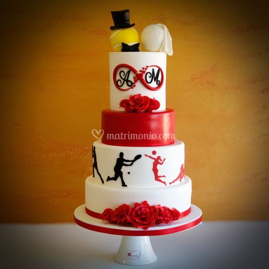 Volley&tennis wedding cake