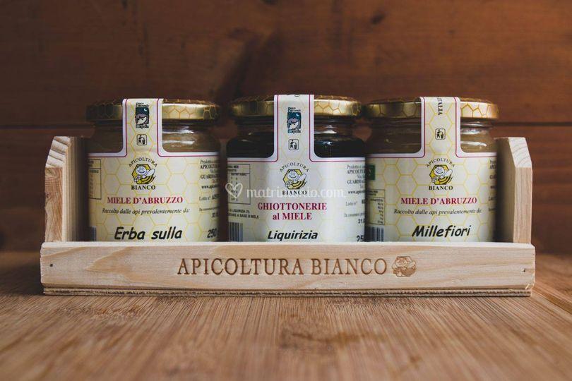 Confezione legno 3 miele 250g