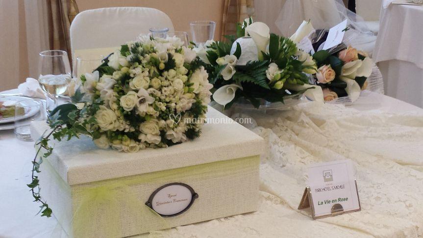 Dettaglio tavoli sposi