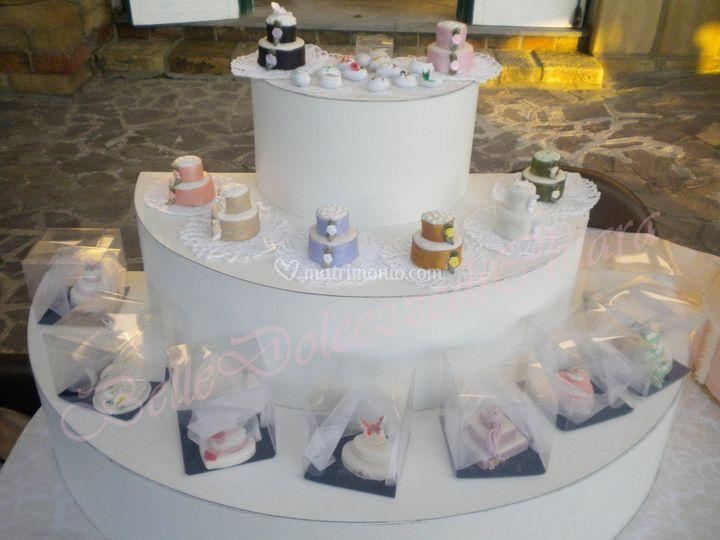 Minicakes,confetti decorati
