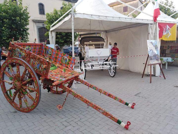 Carretto siciliano e carrozza